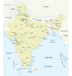republic india map vector image