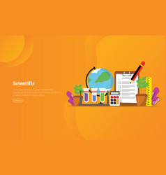 scientific concept educational and scientific vector image