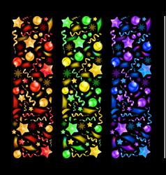 set beautiful christmas bands vector image
