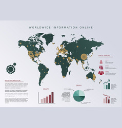 Set elements infographics world map and vector