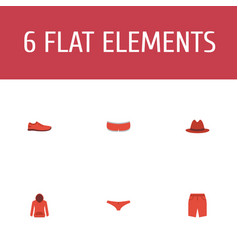 set of clothes icons flat style symbols with vector image