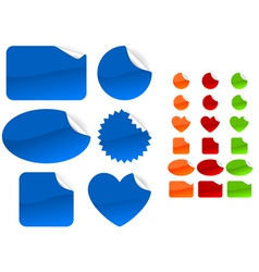 six different forms and four different colors set vector image