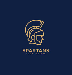 spartans logo vector image