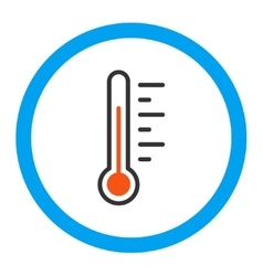 Temperature Level Rounded Icon vector