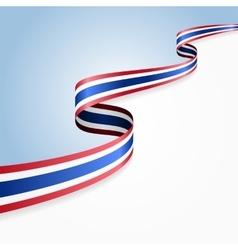 Thai flag background vector image