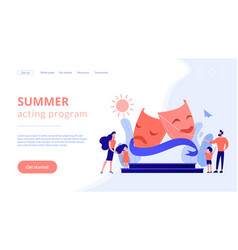 theater camp concept landing page vector image
