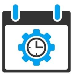 Time Gear Calendar Day Toolbar Icon vector image