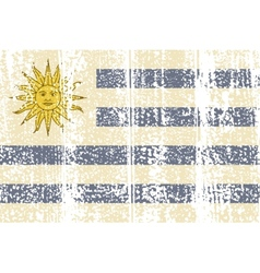 Uruguayan grunge flag vector