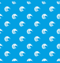 Wave of sea tide pattern seamless blue vector