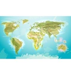 World map grunge style vector image
