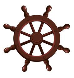 cartoon ship s wheel vector image