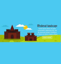 castle medieval landscape banner horizontal vector image