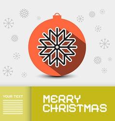 Christmas - Xmas Card Template vector image