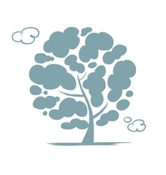 Cloudy tree for your design vector image