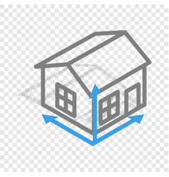 house drawing isometric icon vector image vector image