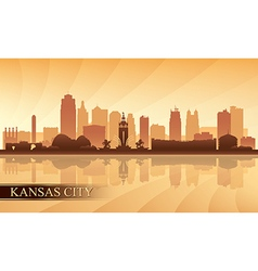 Kansas City skyline silhouette background vector image vector image