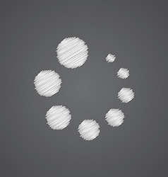 loading sketch logo doodle icon vector image
