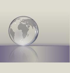 planet earth as a glass ball vector image vector image