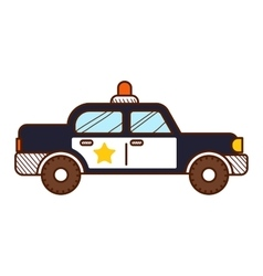 Police car isolated on white background vector image vector image