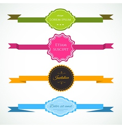 Ribbons colorful set vector image