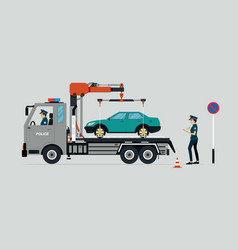wrong traffic rules vector image vector image