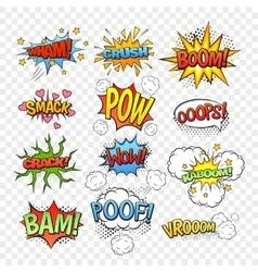 Comic bubbles set vector