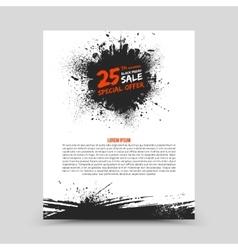 Flyer design template black friday vector