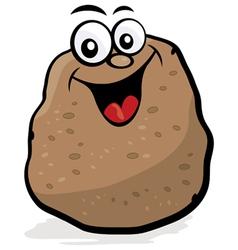 happy potato character vector image vector image