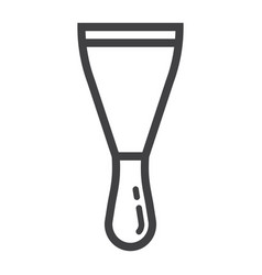 putty knife line icon build and repair spatula vector image