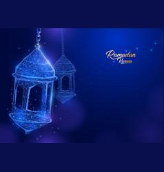ramadan lantern form of a starry sky eid al-fitr vector image