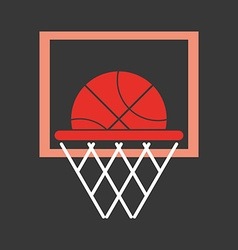 Basketball objects icon vector