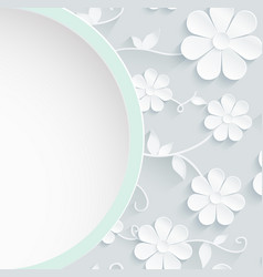 beautiful wreath of spring flowers white daisies vector image vector image
