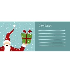 Christmas series Happy Santa Claus and snowflakes vector image vector image