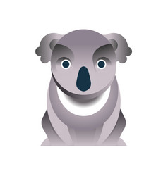koala bear stylized geometric animal low poly vector image