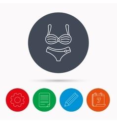 Lingerie icon Women underwear sign vector image vector image