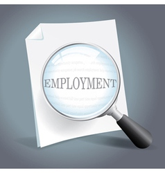 Searching for employment concept vector image vector image