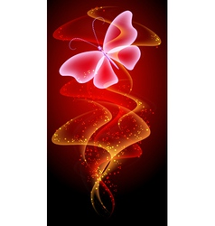 Smoke and butterfly vector image vector image