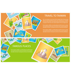 travel to taiwan around famous places brochure vector image