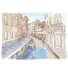 venice watercolor style vector image vector image