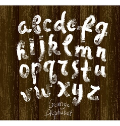 ABC on wood vector image