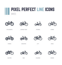bike frames icons vector image vector image