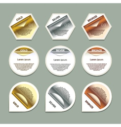 Gold Silver Bronze Progress Background Product vector image vector image