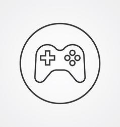joystick outline symbol dark on white background vector image vector image