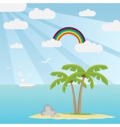 lost island vector image vector image
