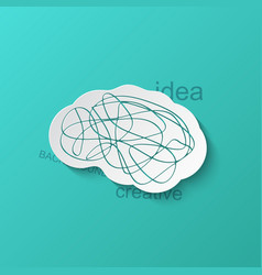 modern brain icon on blue background vector image