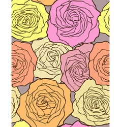 multicolored roses - seamless floral pattern vector image vector image