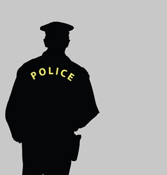 policeman silhouette vector image vector image
