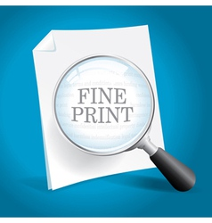 Reviewing the Fine Print vector image
