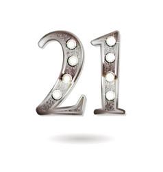 21 years anniversary celebration design vector
