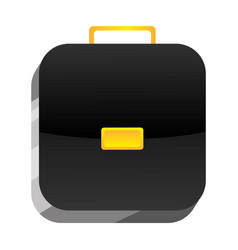 3d botton suitcase icon vector